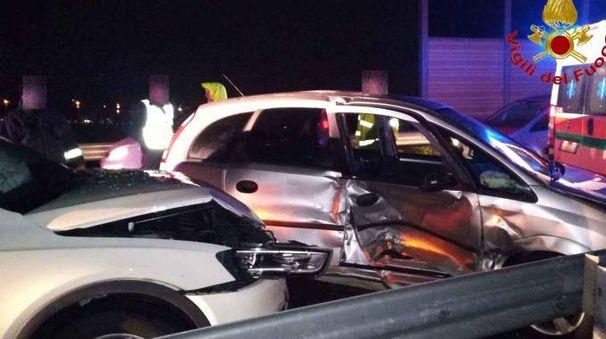 Le due auto incidentate (foto repertorio)