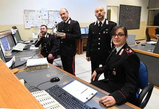 La sala operativa dei carabinieri (Foto Schicchi)