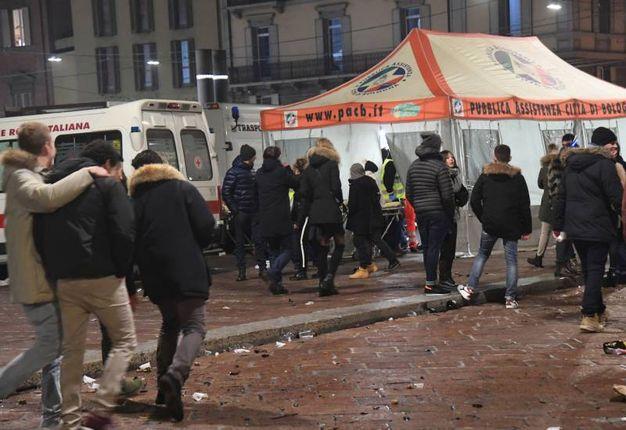 Il posto medico avanzato in piazza Maggiore (Foto Schicchi)