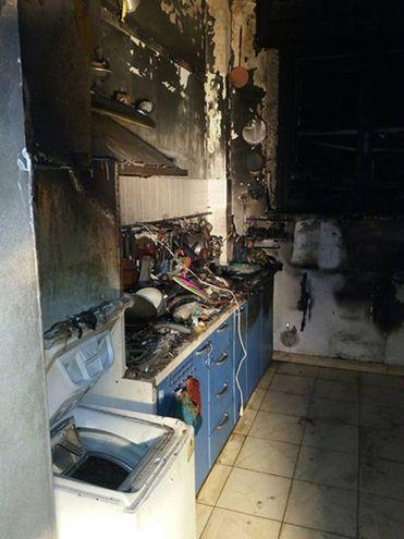 Gravi danni causati dall'incendio