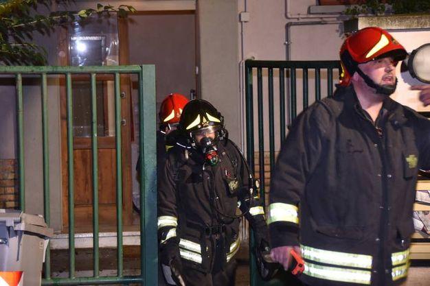L'intervento dei vigili del fuoco (Foto Fantini