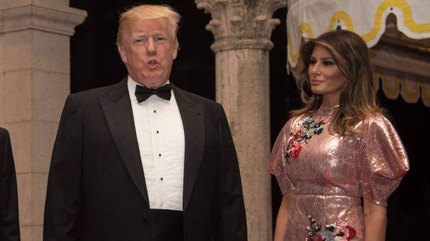Donald Trump con la moglie (La Presse)