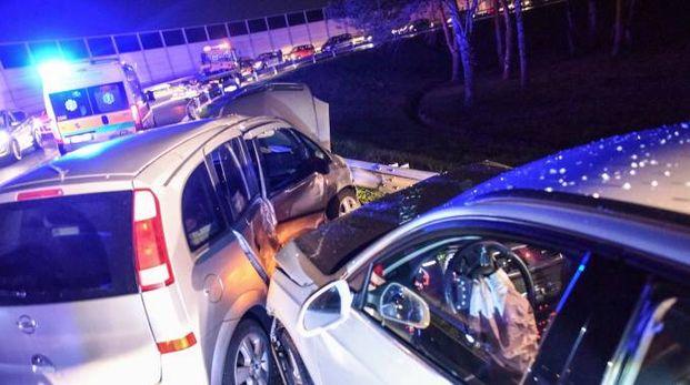 L'incidente sulla rampa dell'A14 (Foto De Marco)