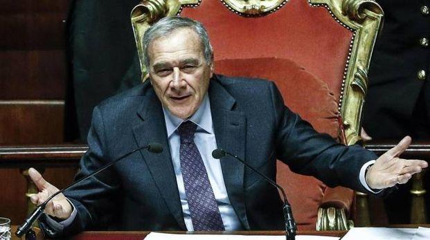 Il presidente del Senato Pietro Grasso (Ansa)
