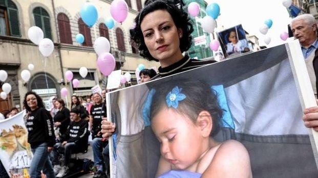 Caterina Ceccuti, mamma della piccola Sofia (Pressphoto)