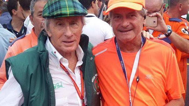 VITTIMA A destra, Bruno De Paoli  con l'ex pilota Jackie Stewart