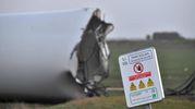 Pala eolica abbattuta da una tempesta a Bouin, Francia Occidentale (AFP)