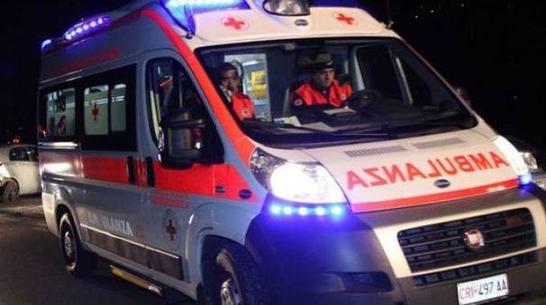 Un ambulanza in servizio
