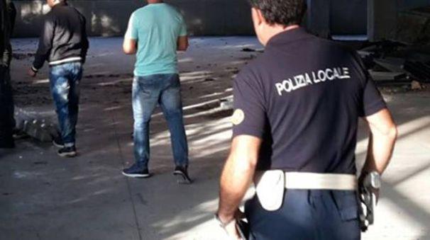 Uno sgombero della polizia locale