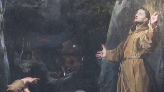 ...nel dipinto con san Francesco che riceve le stimmate...
