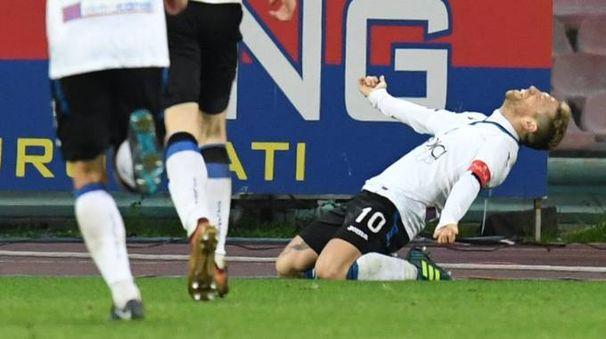 Gomez esulta dopo il gol (Ansa)