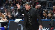 Virtus-Pistoia, coach Ramagli (foto Schicchi)