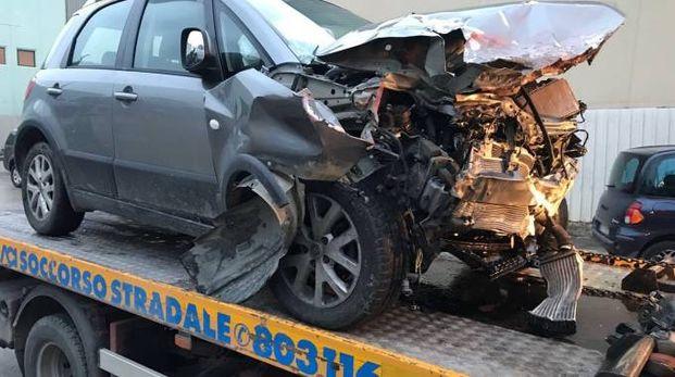 Auto distrutta, Natalino Bartolomei, 74 anni, era alla guida di una Fiat Sedici