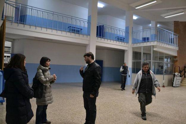 Sopralluogo alla presenza del sindaco Eleonora Proni (Scardovi)