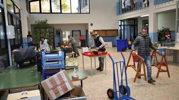 I lavori di adeguamento sismico alla scola media 'Graziani'