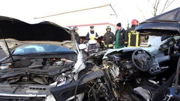 Devastante incidente stradale a Manerbio (Fotolive)