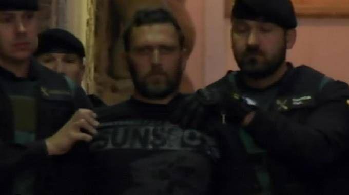Igor dopo la cattura in Spagna