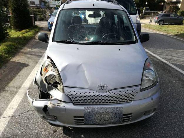 L'auto dopo l'impatto