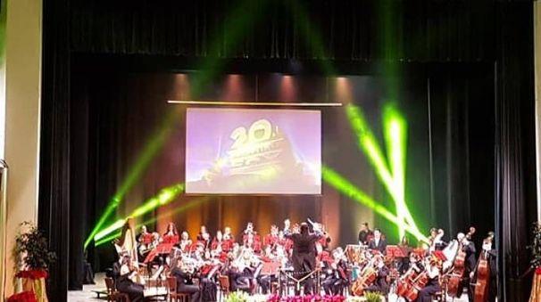 Un  momento del concerto (Foto Braghin)