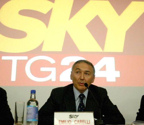 Il giornalista di Sky Emilio Carelli (Ansa)