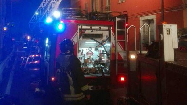 Vigili del fuoco in azione a Bovezzo