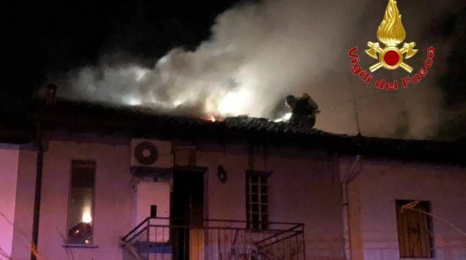 Incendio a  Marudo