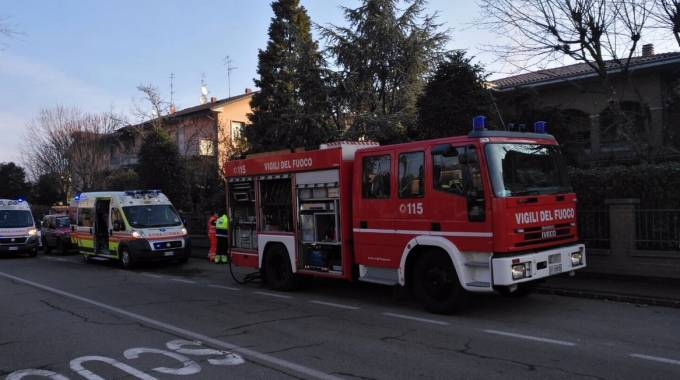 Vigili del fuoco sul posto