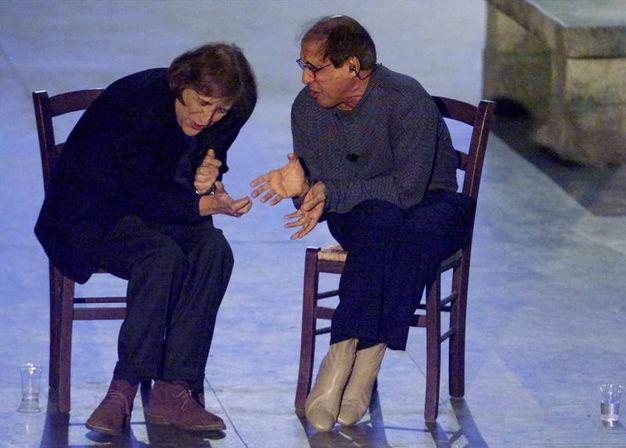 Adriano Celentano e Giorgio Gaber (Ansa)