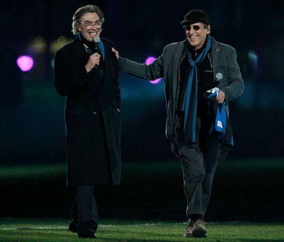 Celentano e Massimo Moratti (Reuters)