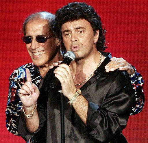 Adriano Celentano e Maurizio Crozza a Rockpolitik (Ansa)