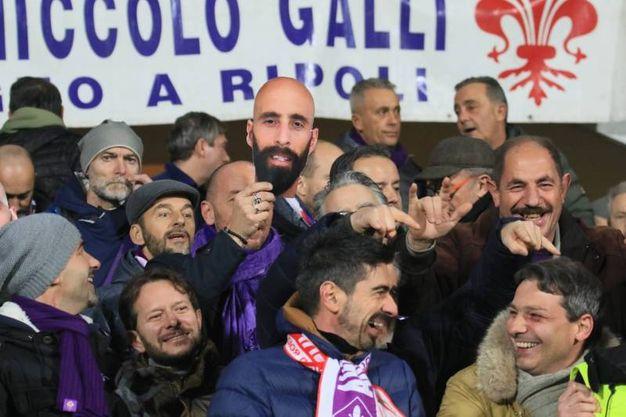 Una maschera dedicata a Borja Valero, ex della Viola (Germogli)