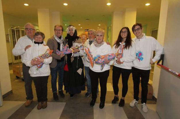 La Fondazione Tommasino Bacciotti e l'assessore Sara Funaro per una Befana speciale al Meyer (foto Umberto Visintini/New Pressphoto)