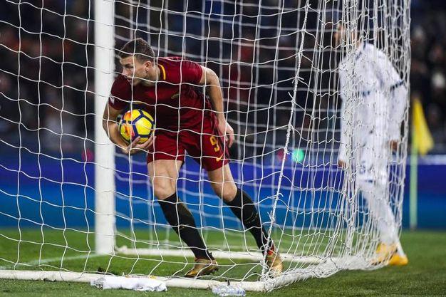 Roma-Atalanta 1-2, Dzeko (Ansa)
