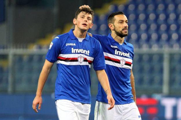 Benevento-Sampdoria 3-2, Kownacki  (Lapresse)