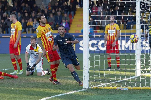 Benevento-Sampdoria 0-1, Caprari (Ansa)