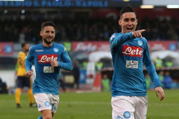 Napoli-Verona 2-0, Callejon (Ansa)