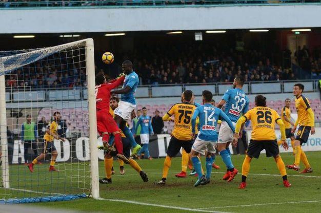 Napoli-Verona 1-0, Koulibaly (Ansa)