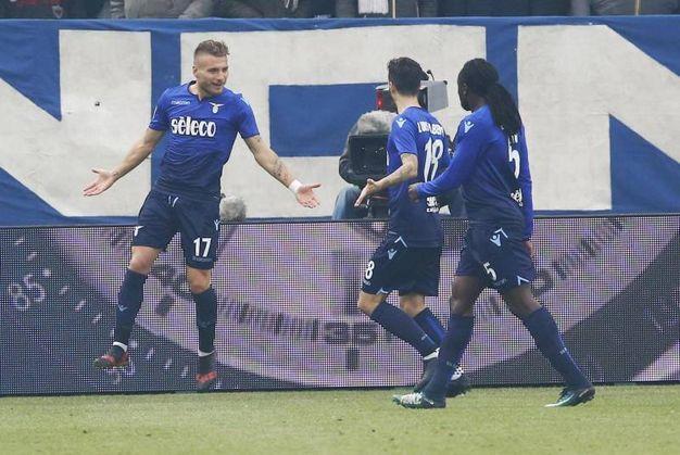 Spal-Lazio 2-4, Immobile (Ansa)