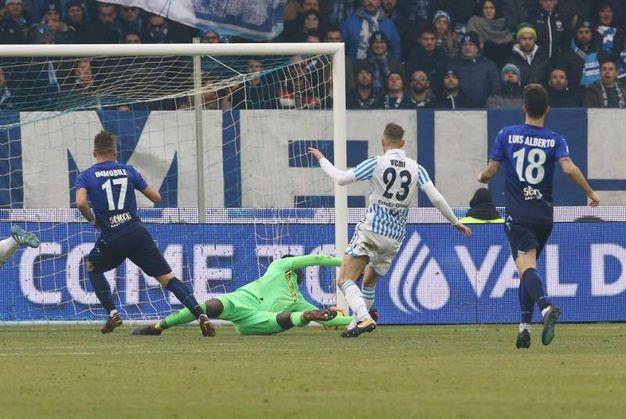 Spal-Lazio 1-3, Immobile (Ansa)