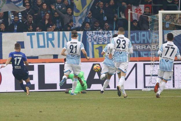 Spal-Lazio 1-2, Immobile (Ansa)