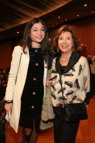 """Allegra Salvini e Lina Baccetti alla prima di """"Carmen"""" al teatro del Maggio Musicale Fiorentino (foto Giuseppe Cabras /New Pressphoto)"""