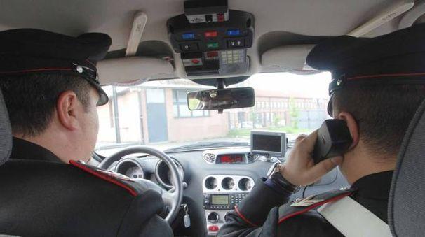 Un'auto dei carabinieri (Foto Donzelli)