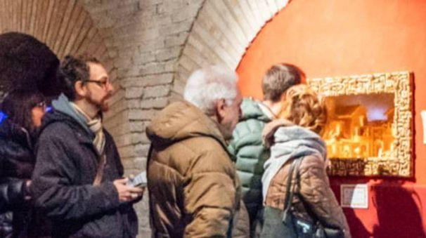 La chiusura dell'esposizione della Natività alle Piccole Cisterne (Foto Zeppilli)