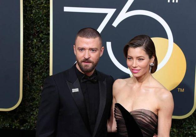Justin Timberlake e Jessica Biel (Ansa)