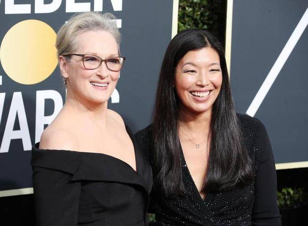 Meryl Streep e Ai-Jen Poo (Ansa)