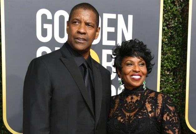 Denzel e Pauletta Washington (LaPresse)