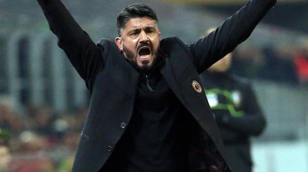 Gennaro Gattuso in versione allenatore (Ansa)