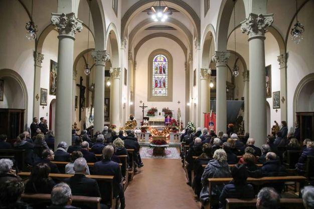 Vinci, i funerali di Carlo Pedretti nella chiesa di Santa Croce (foto Tommaso Gasperini/Germogli)
