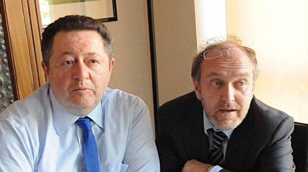 Nella foto d'archivio Bp  il sindaco Tiziano Tagliani con Roberto Montanari