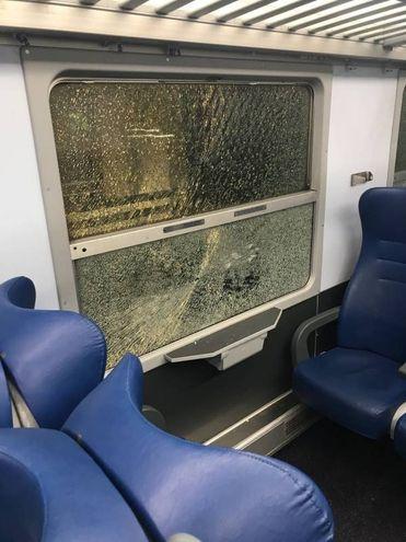 I danni sul treno